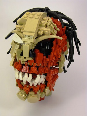 LEGO Zombie Head by Chris Maddison