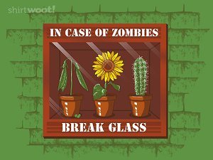 Shirt Woot, In Case of Zombies